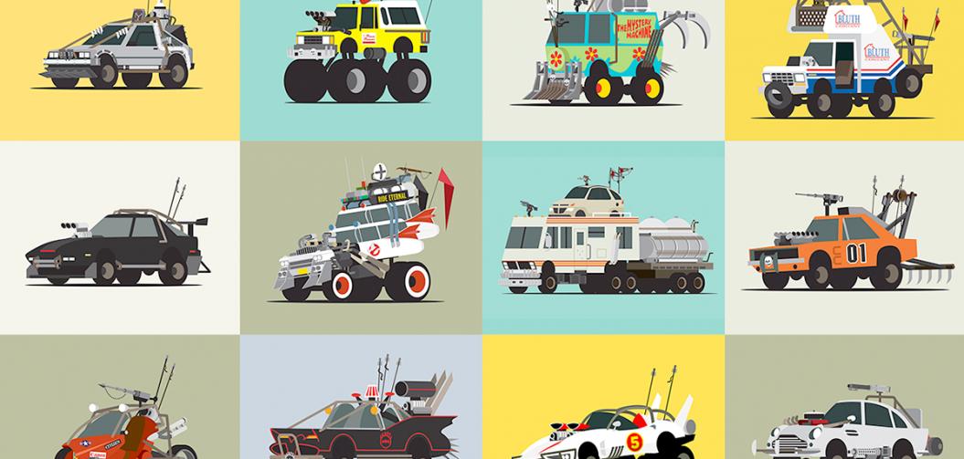 Scott Park s'est amusé à pimper les véhicules du cinéma façon Mad Max