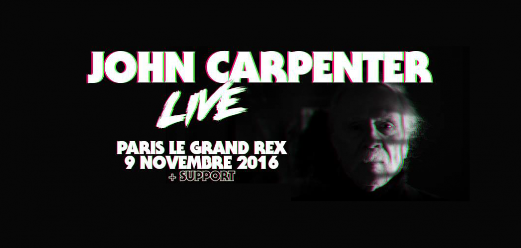 John Carpenter en concert au Grand Rex le 9 novembre 2016