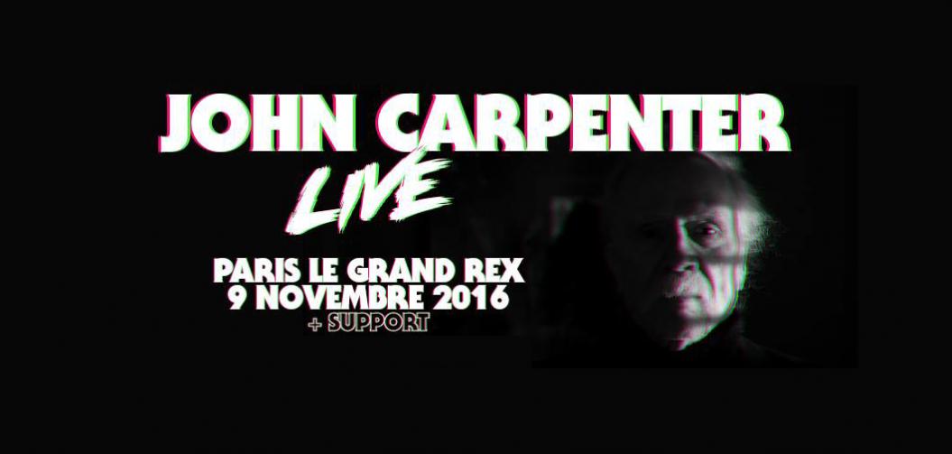 John Carpenter en concert le 9 novembre à Paris