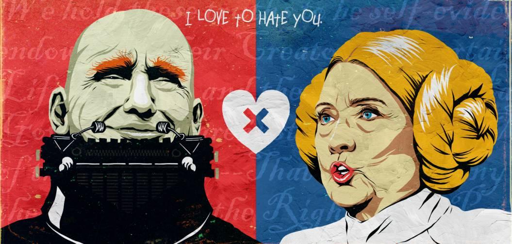 Hillary Clinton et Donald Trump sont des héros de la pop culture