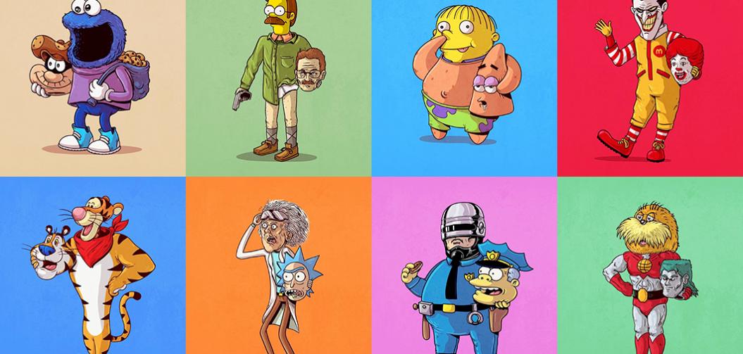Nos personnages préférés démasqués